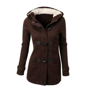 Parka Women Basic Jacket Coat 2019 Female Parkas Long Hooded Coat Parkas Overcoat Zipper Horn Button Outwear casaco feminino 50