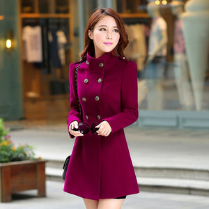 Trench Coat 2019 Spring Hot Sale Fashion Solid Full Sleeve Casual Slim Coat Button Mandarin Collar Female Clothing Office Lady Trench