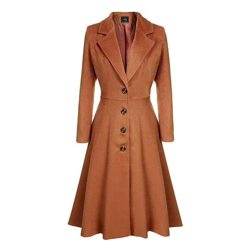 Trench Coat 2019 Wool Coat Women Outwear Plus Size Fashion Casual Trench Lady Long Elegant Windbreaker Single Breasted Street Coat