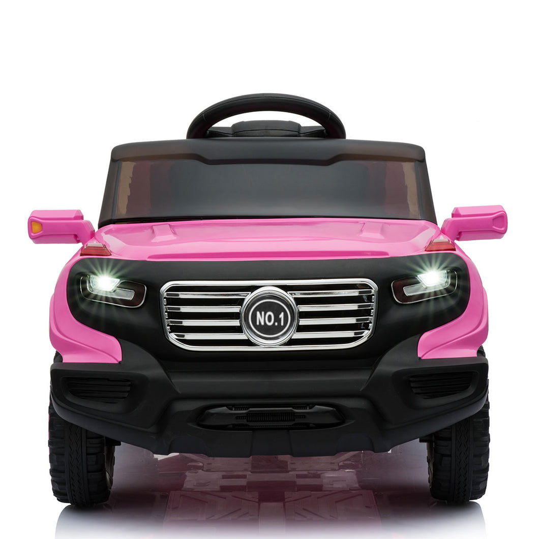 6V MP3 Kids Ride On Truck Car Remote Control Battery Wheels W/ LED Lights Pink