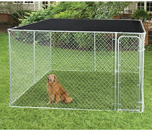 10' X 10' Black UV Rated Dog Kennel Shade Cover Sun Mesh Shade Sunblock Shade