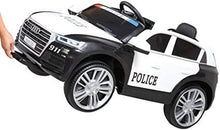 12V Kid Ride on Police Car with Parental Remote Control Licensed Audi Q5 Electric Vehicle
