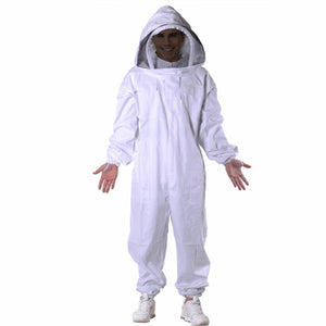 New Professional Suit with Veil Hood Cotton Full Body Beekeeping Bee Keeping