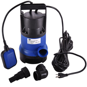 Submersible Clean/Dirty Water Pump 1/2HP 2000GPH Swimming Pool Pond Flood Drain