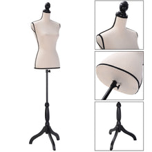 Beige Female Mannequin Torso Clothing Dress Display