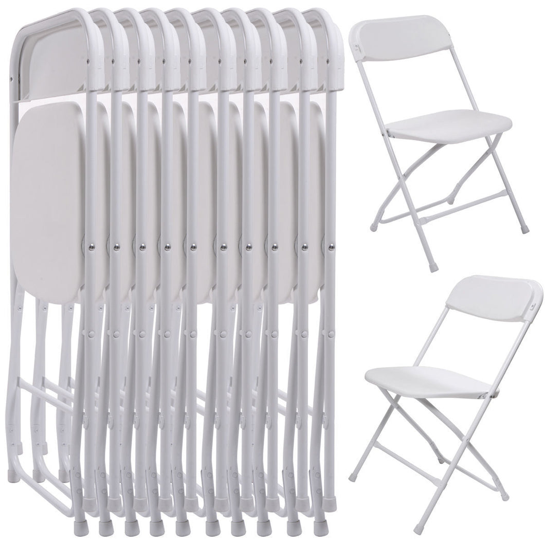8 Pack Commercial Wedding Quality Stackable Plastic Folding Chairs W Sandinrayli