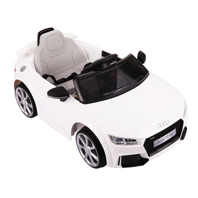 New White Audi TT 12V Kids Ride On Car Electric Powered Wheels Toy Lights R/C