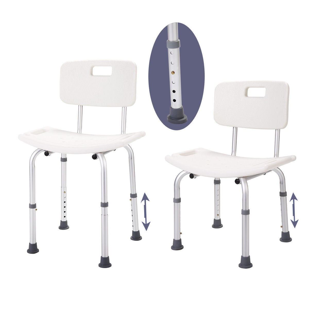 Height Adjustable Medical Shower Chair Bath Tub Bench Stool Seat ...