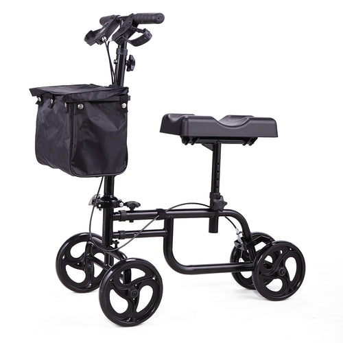 Steerable Scooter For Disabled knee Ankle Injuries - Kneeling Quad Roller Cart For Adult and Elderly Medical Mobility Walker