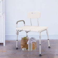 Popular 10 Height Adjustable Medical Shower Chair Bath Tub Bench Stool Seat Back and Arm, White