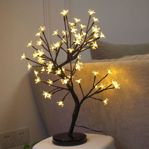 20Inch 64LEDs Cherry Blossom Desk Top Bonsai Tree Light Perfect for Home Festival Party Wedding Christmas Indoor Outdoor Decoration