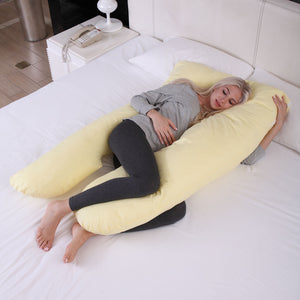 Asymmetric U Shape Body Pregnancy Maternity Pillow Cushion Zippered Cover