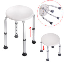 Bath Shower Chair Adjustable Medical 6 Height Bench Bathtub Stool Seat White New