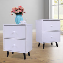 Stylish Set of 2 Nightstands Bedside Table End Table Storage 2 Drawers