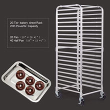 20 Pan End Load Bun Commercial Dough Baking Full Sheet Pizza Bakers Bakery Cooling Rack