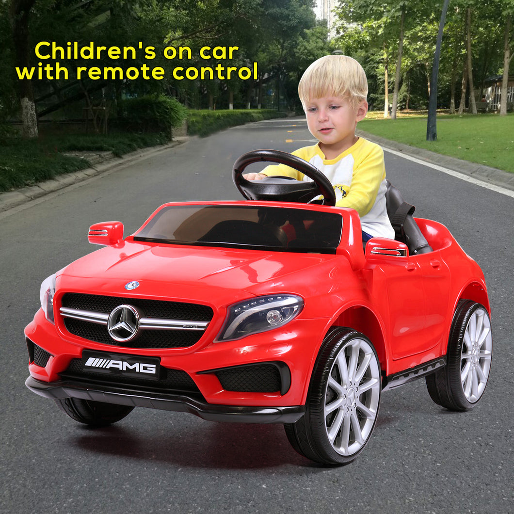 Kids 6V Electric Power Wheels RC Ride On Car Mercedes-Benz Remote & MP3 White/Red