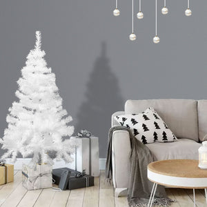 White 5Ft Artificial PVC Christmas Tree W/Stand Holiday Season Indoor Outdoor