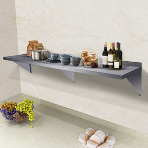 "Commercial Stainless Steel Restaurant Bar Cafe Kitchen Floating Wall Shelf 18""X72"" Premium Quality New"