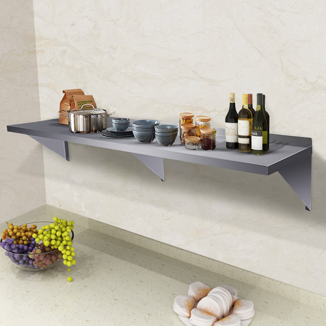 Commercial Stainless Steel Restaurant Bar Cafe Kitchen Floating Wall Shelf 18
