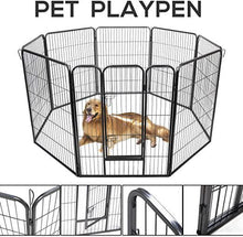 40  Pet Playpen 8 Panel Folding Exercise Pet Playpen Dog Fences Puppy Gate Home Indoor Outdoor