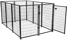 47 H Large Dog Pens 10-Piece Pet Playpen Heavy-Duty Metal Fence Dog Kennels Enclosure Outdoor & Indoor Black