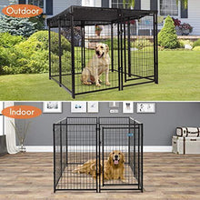 47 H Large Dog Pens 8-Piece Pet Playpen Outdoor & Indoor Heavy-Duty Metal Fence Puppy Play Crates Dog Kennels Enclosure Black
