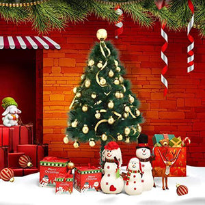 4Ft Artificial PET Classic Unlit Christmas Tree Sturdy Metal Stand 80 Branch Full Tree