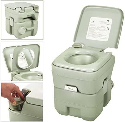 5 Gallon 20L Flush Outdoor Travel Camping Portable RV Toilet for Hiking Boating Caravan Campsite Hospital