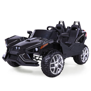 12V Kids Ride On Racing Truck Car Remote Control w/LED Light MP3 Black/Pink/Red