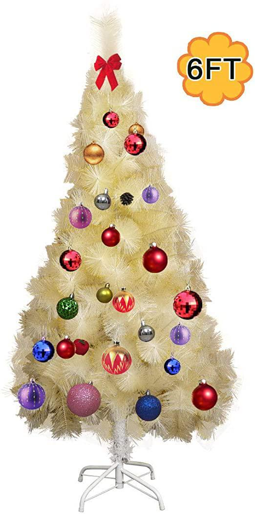 6 Ft Champagne Artifical Christmas Tree WStand Holiday Season Decoration Indoor/Outdoor