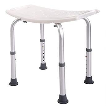 6 Height Adjustable Bath and Shower Seat Top Rated Shower Bench