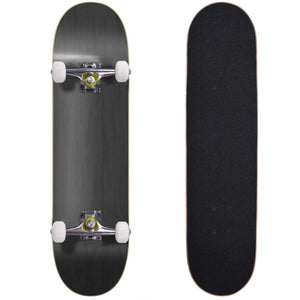"Blank Complete Skateboard Stained BLACK 7.75"" Skateboards"