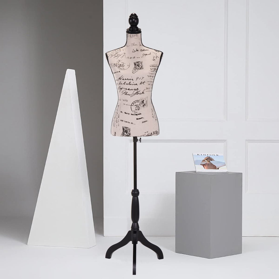 Female Mannequin Torso Clothing Dress Tripod Stand