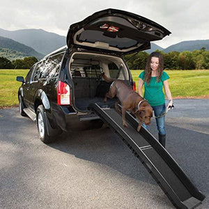 62 Portable Black Folding Pet Ramps for SUV Cars Travel Portable Light Weight