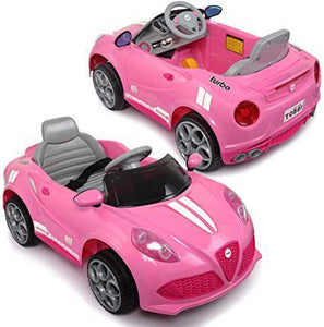 6V Electric Powered Kids Ride-on Car Toy wRemote Control LED Light Pink