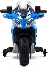 6V Kids Ride On Police Motorcycle Car Battery Powered 4 Wheel Bicycle Electric Toy Blue