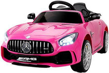 6V Kids Ride on Car Licensed Benz AMG GTR with Parental Remote Control Electric Vehicle with LED Lights MP3 Music Horn Pink