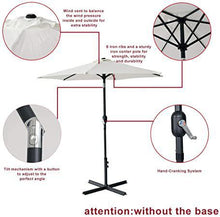 7.7ft Patio Umbrellas Market Yard Outdoor Table Umbrella with Push Button Tilt Beige
