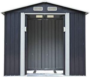 7x4 Outdoor Storage Shed w2 Sliding Doors and 4 Vents