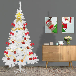 White 6Ft Artificial PVC Christmas Tree W/Stand Holiday Season Indoor Outdoor 2020