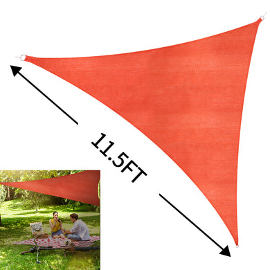 Sun Shade Sail Outdoor Top Canopy Patio UV Block 11.5'Triangle orange-red