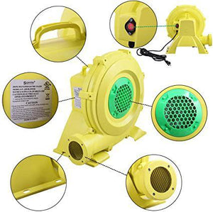 950 Watt Yellow Air Blower Pump Fan Air Inflatable Bouncer Blower