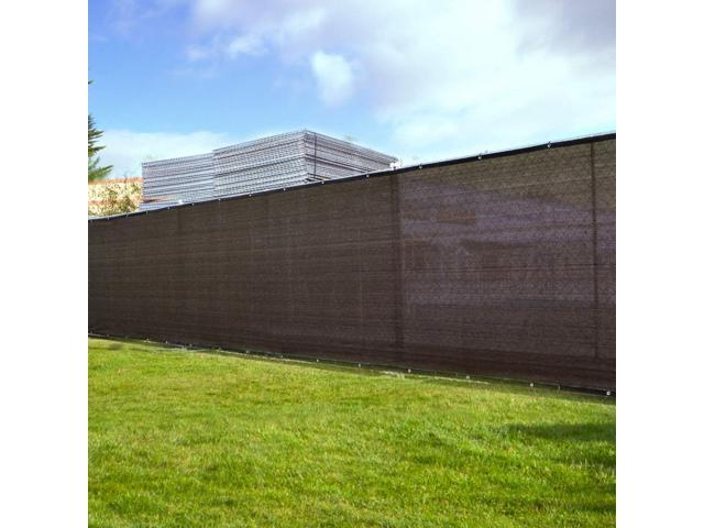 Dark black 8'x 50' Fabric Fence Windscreen Privacy Screen Shade Cover for Patio Garden Tarp