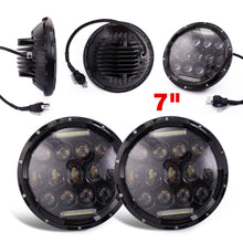 2 X 7'' Round LED Headlights Lamp with DRL for Jeep Wrangler JKU JK