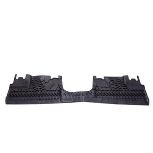 For 2007-2017 Jeep Wrangler 4 Door Unlimited Slush Mats Front and Rear mats Set of 3