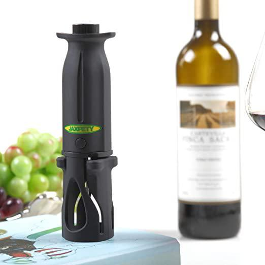 Air Pressure Wine Opener Wine Bottle Opener-Built-in Foil Cutter Easy Cork Remover Corkscrew Black