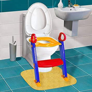 Baby Ladder Toilet Ladder Chair Toilet Trainer Potty Toilet Seat Step up Toddler Toilet Training Step Stool for Girls and Boys Blue