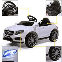 Benz Electric Car Kis Ride on Toy Car 12V Battery Powered w Remote Control RC MP3 LED Light White