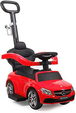 Benz Kids Ride-On Push Car Foot Operated Walker Stroller wHandle and Cup Holder Red
