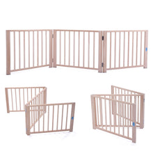 "17.5"" 3 Panel Folding Free Standing Gate Versatile Cat Dog Pet Fence Home"